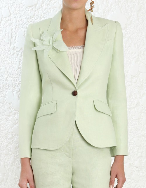 2019 Fashion Tailored Blazer Women Clothing OEM Mint Green Vintage Linen Suit Jacket, View Women Vintage Jacket, NTQ Product Details from Dongguan
