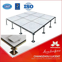 top sell high loading capacity conductive vinyl tile raised floor for computer room