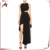 Latest Design Fashion Women's Evening Dresses Sleeveless Black Evening Dress 2018