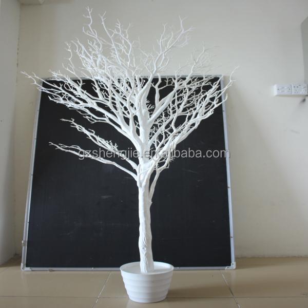 D coration de mariage artificielle arbre sec blanche for Fabriquer un palmier artificiel