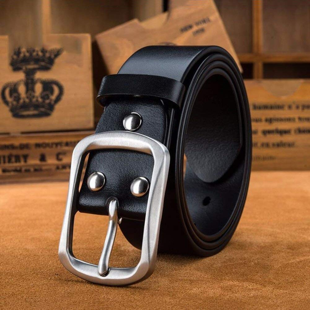 XUEXUE Mens Business Belt,Automatic Buckle Belt,Work Active Basic Leather,Formal Belts,Casual Wear /& Cowboy Wear /& Work Clothes Uniforms Comfortable,A,115