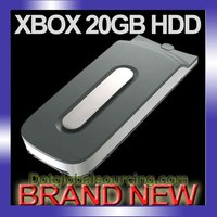 New 20Gb Hard Disk Drive Hdd For Xbox 360 Game 20 Gb