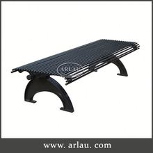 Arlau Cast Aluminum Patio Furniture Polished,Red Metal Outdoor Bench,Metal Mesh Chair Outdoor