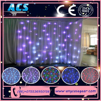 Promotion led display stage background led video curtain / Led star light /Wedding backd