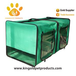 Foldable Double layer cushion pet soft crate for small animal