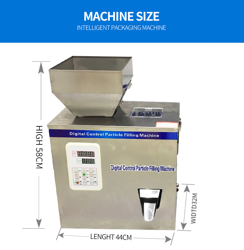 New type 2-200g Particle Filling Machine with foot pedal for Tea Bean Seed