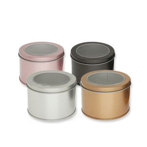 Various colors baking resealable small custom child proof aluminium cookie round food grade cake metal tin can