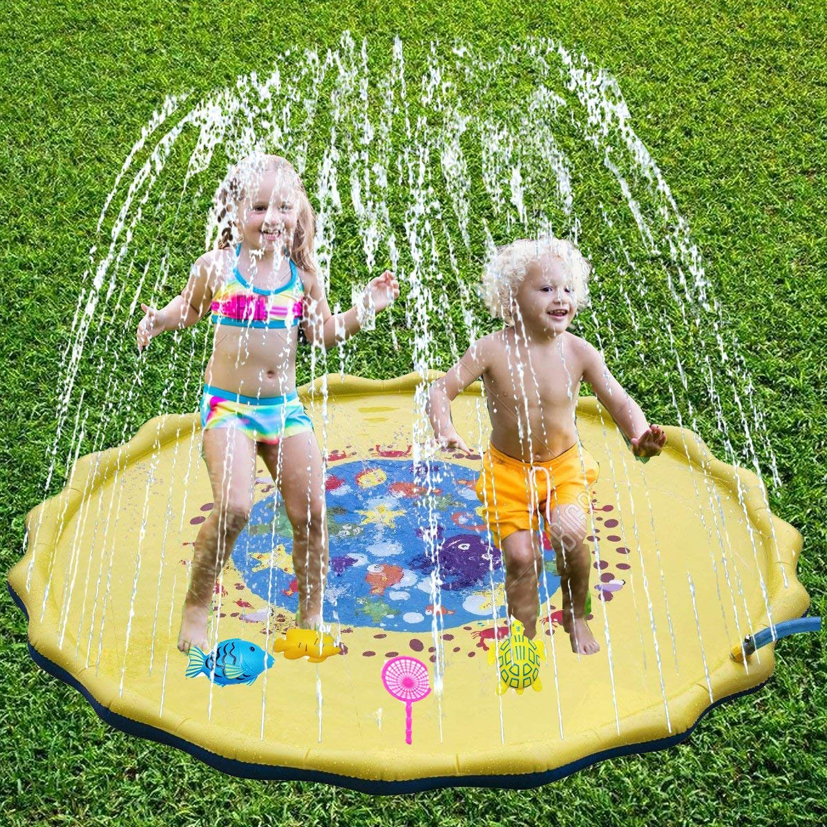 Get Quotations Ocean Sprinkler For Kids Outdoor Water Toys Sprinkle And Splash Play Mat Pad