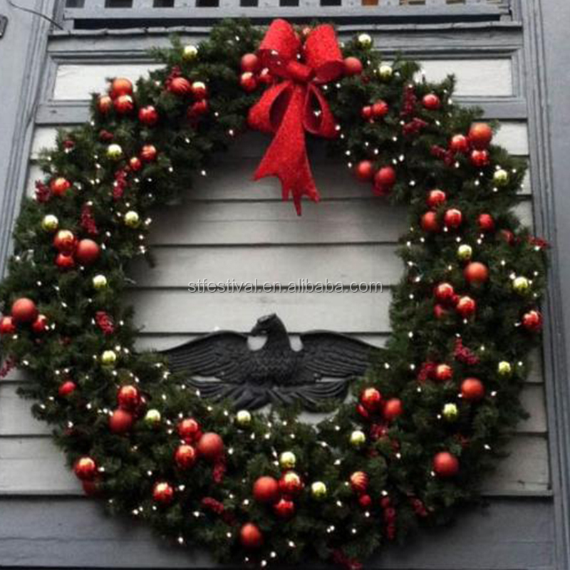 giant christmas wreath decorative supplies wholesale for outdoor decoration 1jpg 2jpg 3jpg - Christmas Wreath Decorations Wholesale