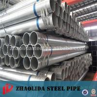 construction material steel galvanized pipe for scaffold New design golden supplier of pre galvanized steel pipe