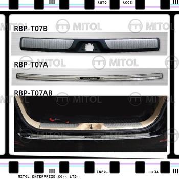 For TOYOTA ALPHARD Rear Bumper Protector Door Sill Scuff Plate & For Toyota Alphard Rear Bumper ProtectorDoor Sill Scuff Plate - Buy ...