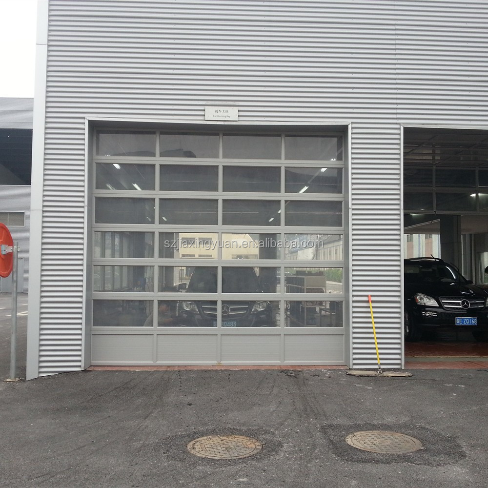 Commercial Aluminum Full View Clear Glass Garage Door Buy Glass
