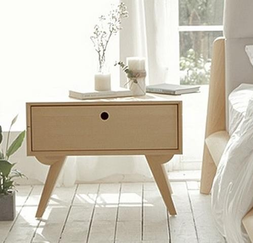 Nordic Style Modern Bedroom Furniture Unique Nightstandsimple Wood Night Stand For Bed Room Cabinet