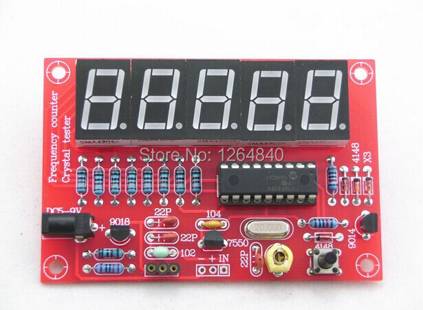 DIY Kits RF 1Hz-50MHz Crystal Oscillator Frequency Counter Meter