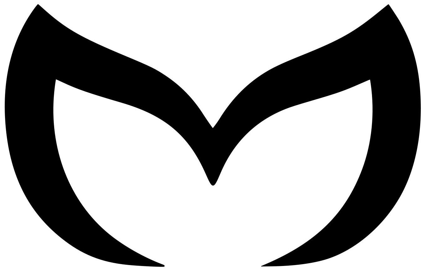 Mazda van truck evil m3 decal vinyl die cut white sticker 8 width by
