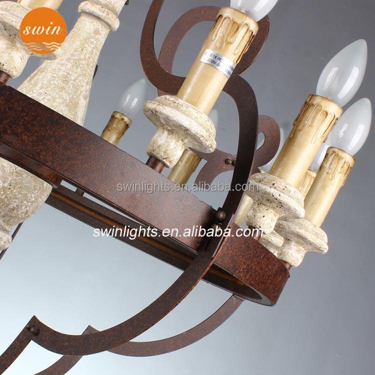 American style retro eisen rustikal 15 große kronleuchter licht ...