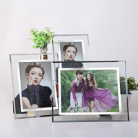 Wholesale Stock Small Order Home Decoration Glass Silver Edge Mirror Surface Photo Frame