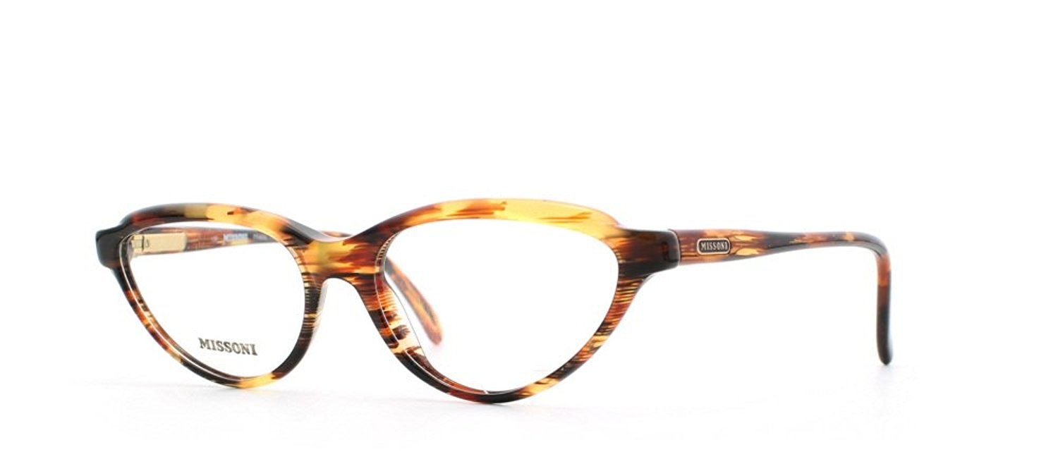b89948b0ba2634 Get Quotations · Missoni 225 A52 Brown and Yellow Authentic Women Vintage Eyeglasses  Frame