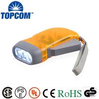 3 LED Pressing Mechanical Crank Flashlight ABS Dynamo Flashlight