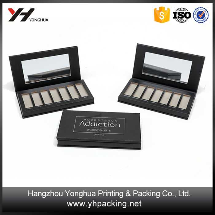 Hot sale eyeshadow paper palette box for make up packaging box