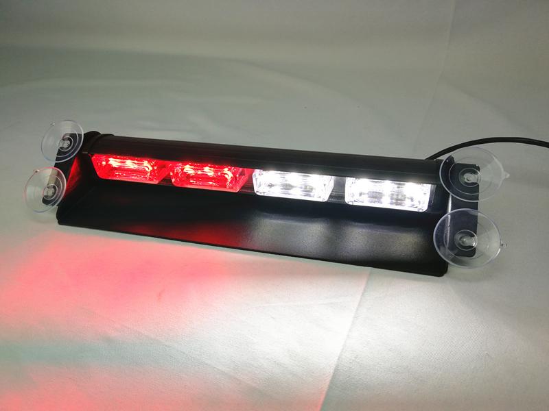 12W/45CM Factory interior suction holding bar windshield mount flare led emergency light bar for vehicle SL332-SV