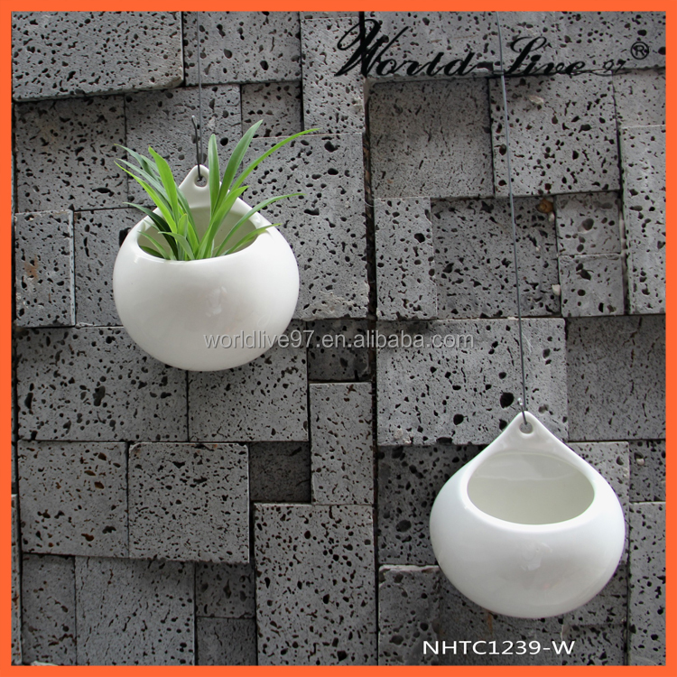 cheap outdoor flower pots for home decoration wall hanging