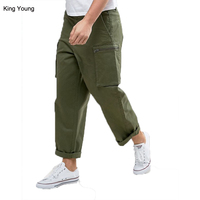KY wholesale Denim Vincent Chino Loose Fit Cargo pants Pocket Cotton twill Concealed fly Side pockets Loose fit cargo trousers