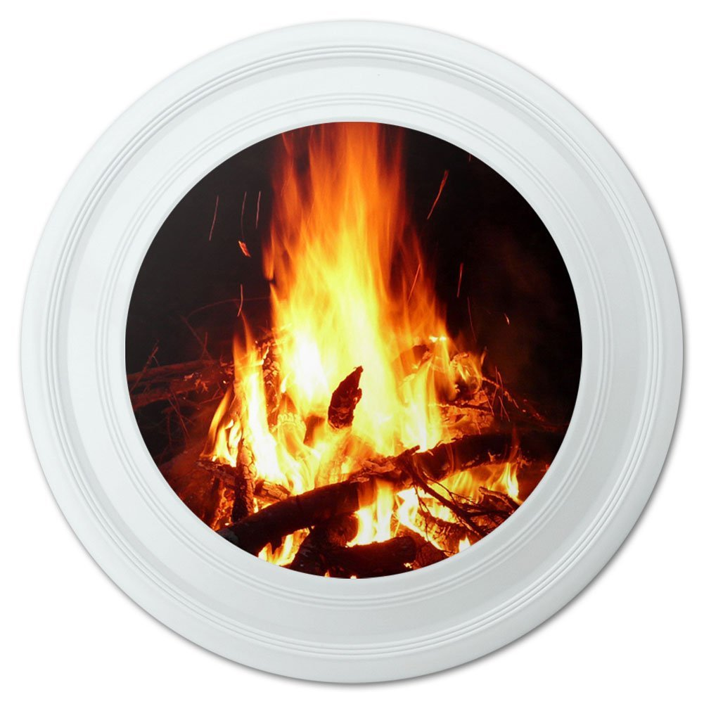 "Campfire Camp Camping Fire Pit Logs Flames Novelty 9"" Flying Disc"