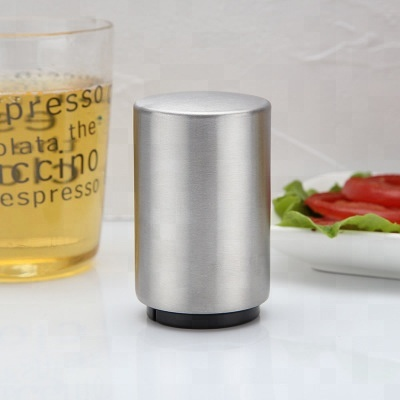 Magnetic Stainless Steel Beer <strong>Bottle</strong> <strong>Opener</strong> Push Down <strong>Automatic</strong> <strong>Bottle</strong> Cap <strong>Opener</strong>