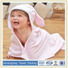 rabbit dog hippo baby hooded towels