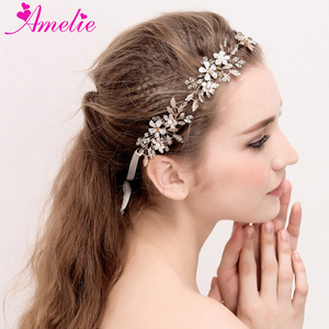 Wedding Dancing Hair Accessories Headband Enchanted Floral and Crystal Bridal Hair Vine Princess Prom Headpiece