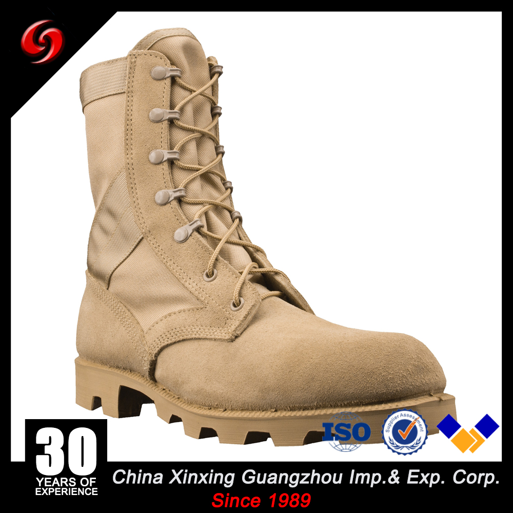 Classic anti-oil rubber panama outsole Jungle boots Combat Military Tactical Khaki Genuine Leather ranger shoes For Army