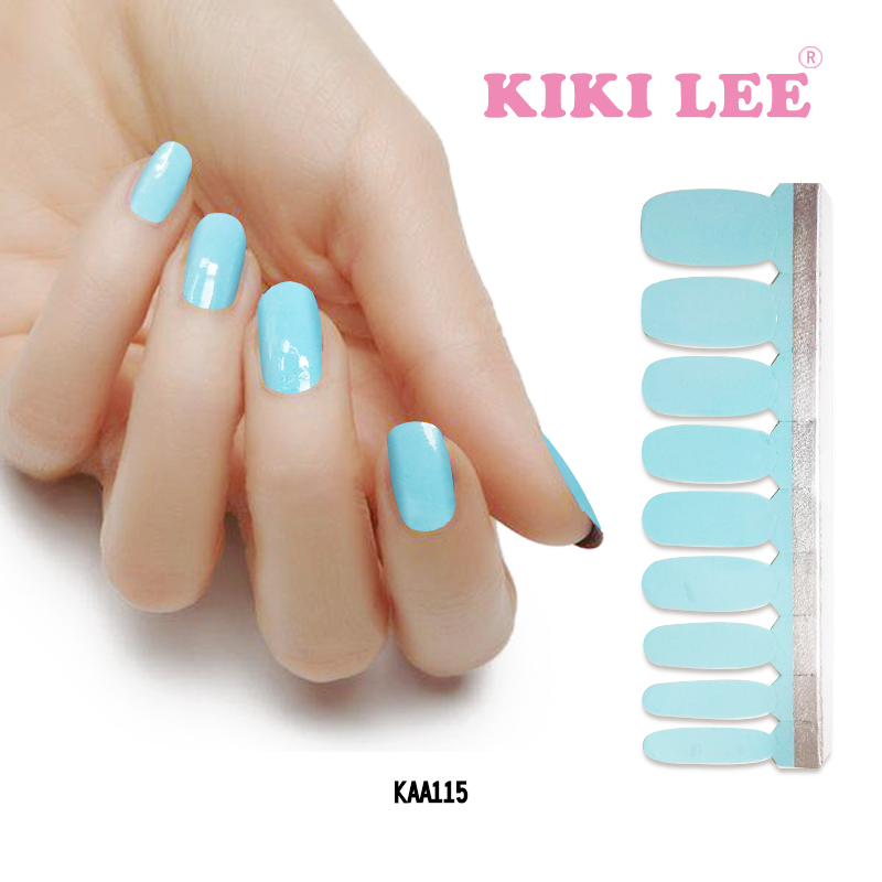 KIKILEE solid color nail sticker for nail beauty DIY