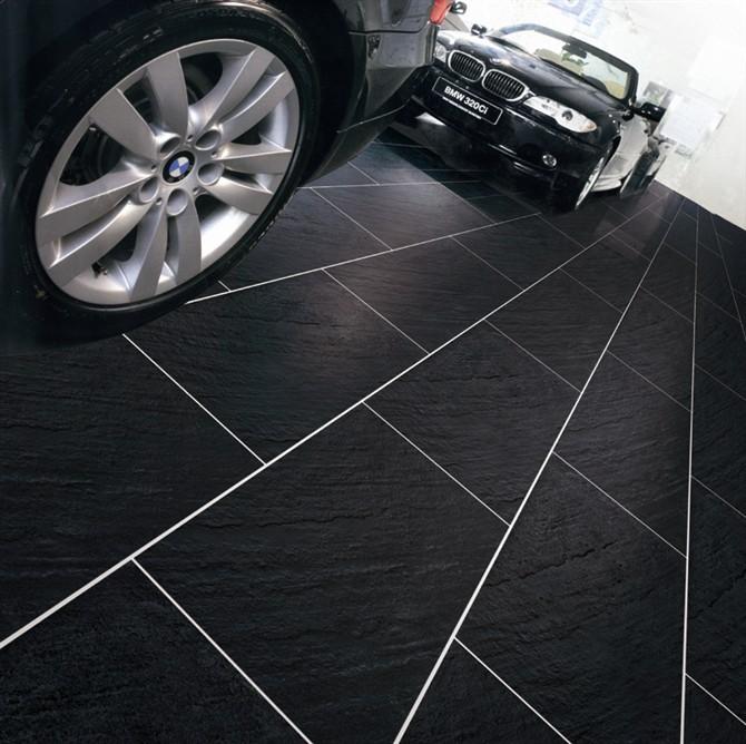 Garage Floor Tiles: Non Slip Porcelain Tile Garage Floor Tile Design Tile