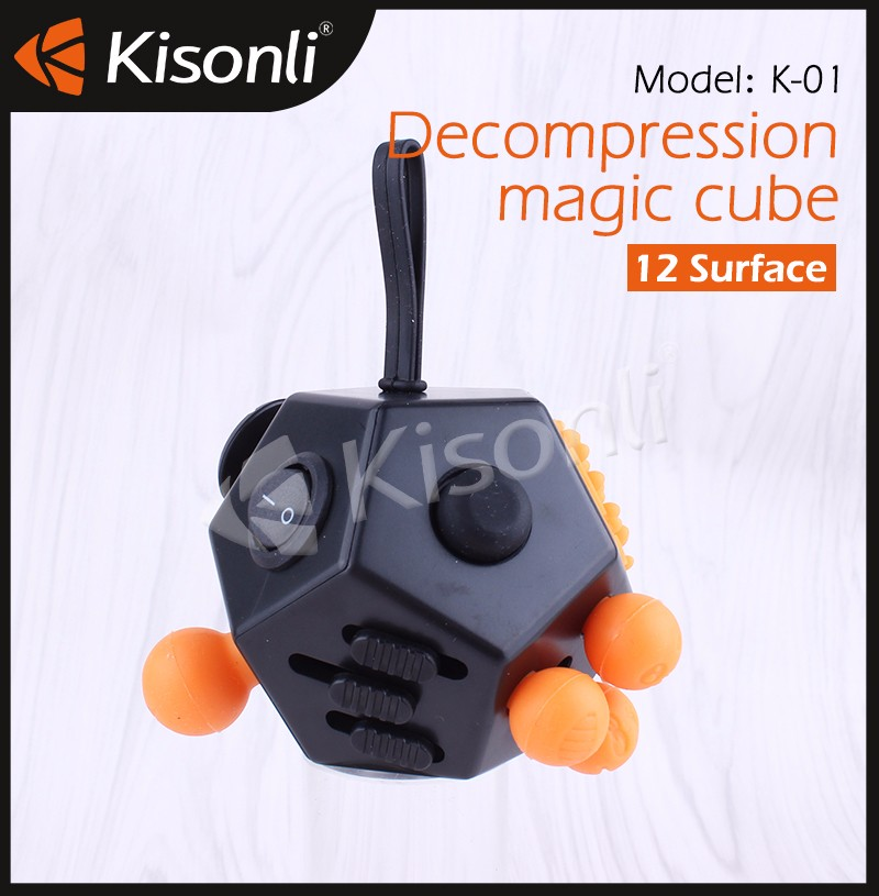 New Arrivals Fidget Cube Stress Release Fidget Toy 12 Sides Anti Stress Cube for Birthday Gift