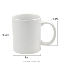Custom logo 11oz blank sublimation ceramic coffee mug for sale