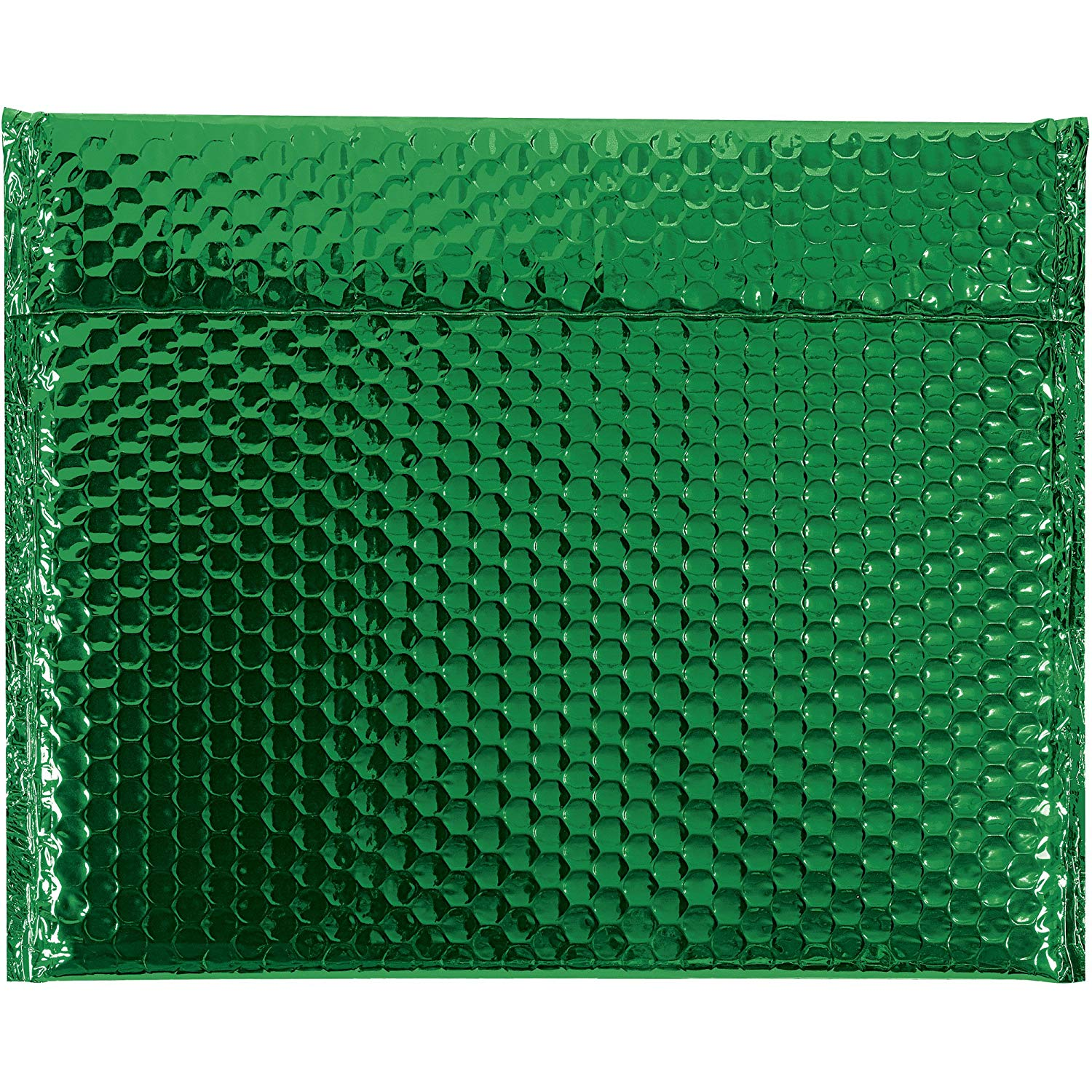 "Boxes Fast BFGBM1311G Glamour Bubble Mailers, 13 3/4"" x 11"", Green (Pack of 48)"