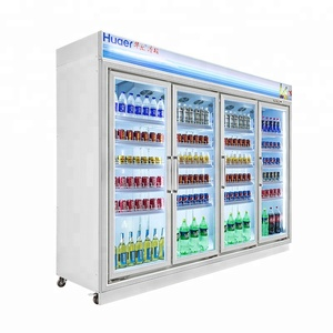 4 door commercial display cold drink refrigerator