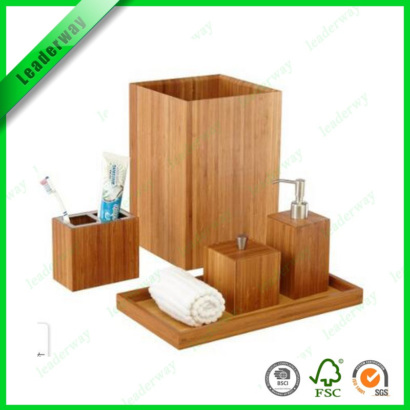 Bulk Bathroom Supplies: Wholesale China Small Bath Items Wood Plastic Bathroom