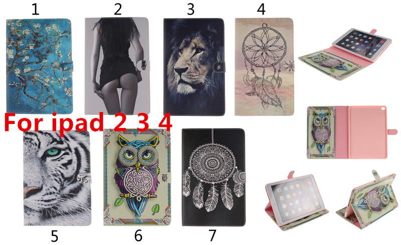 Luxury Book Leather Case for ipad2 ipad3 ipad4 Tablets Accessories Fashion Smart Elegant Stand Holder Cover