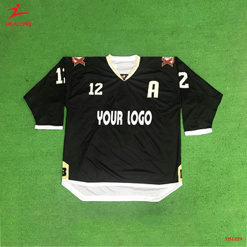 Wholesale Sublimation Black Hot Sale Best Quality Custom Hockey Jersey