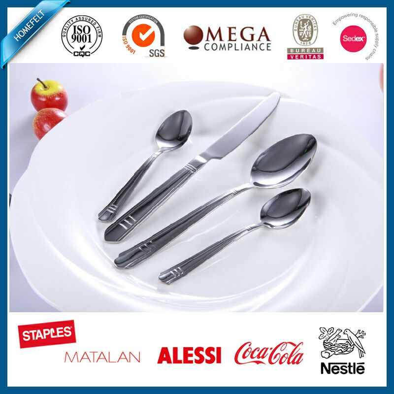 custom european dinnerware sets spoon fork and knife