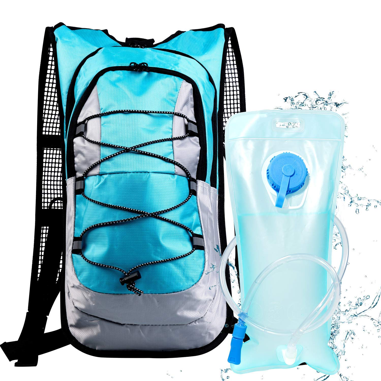 513938246b Sports & Outdoors Monvecle Hydration Water Backpack 2L Free Water Bladder  Perfect Running Cycling Hiking Climbing Pouch ...