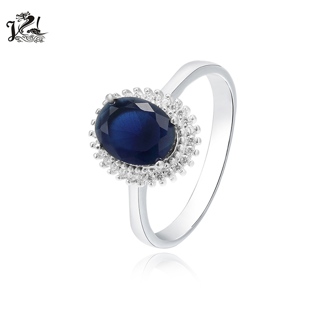 High Quality 2020 Fashion Jewelry ,Sapphire 925 Silver Women Fine Jewelry