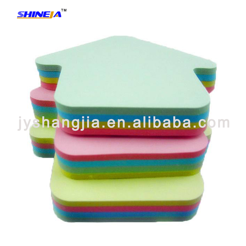 colorful apple shaped die cut sticky note for school, office