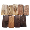 For iPhone 6 wooden bamboo case with engraving, Hard plastic wood case