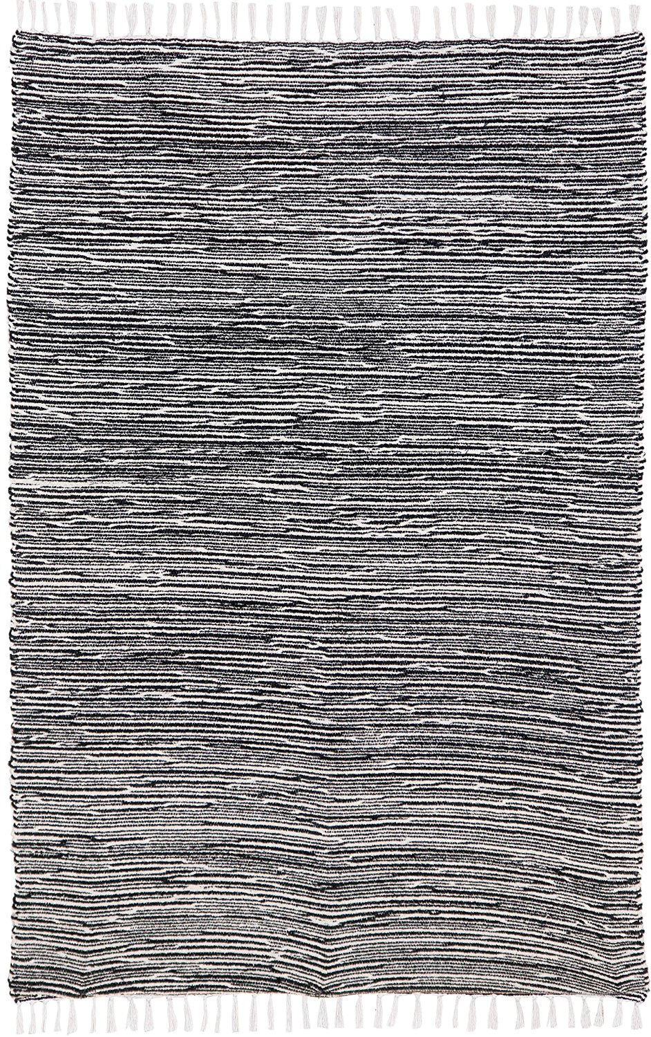 Complex Chenille Flat Weave Rug, 4-Feet by 6-Feet, Black