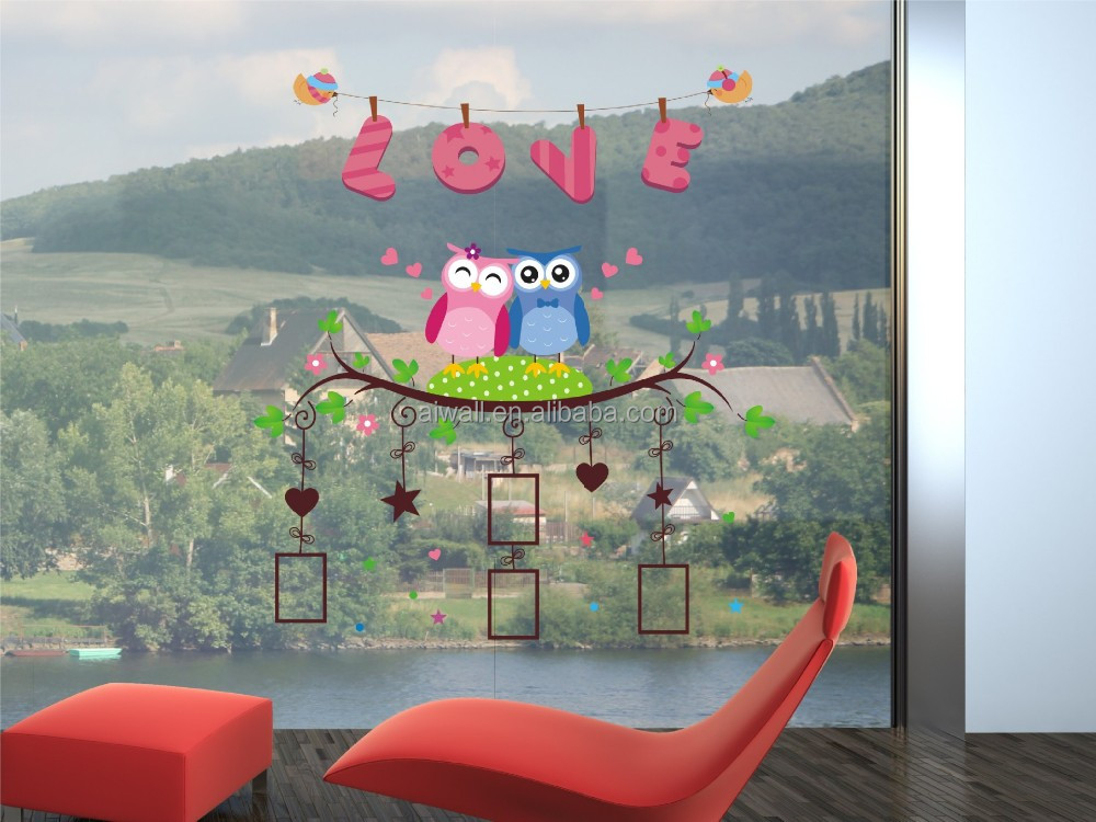 bho lindo foto pegatinas de pared de dibujos animados animales paredes decortive pegatina para habitacin