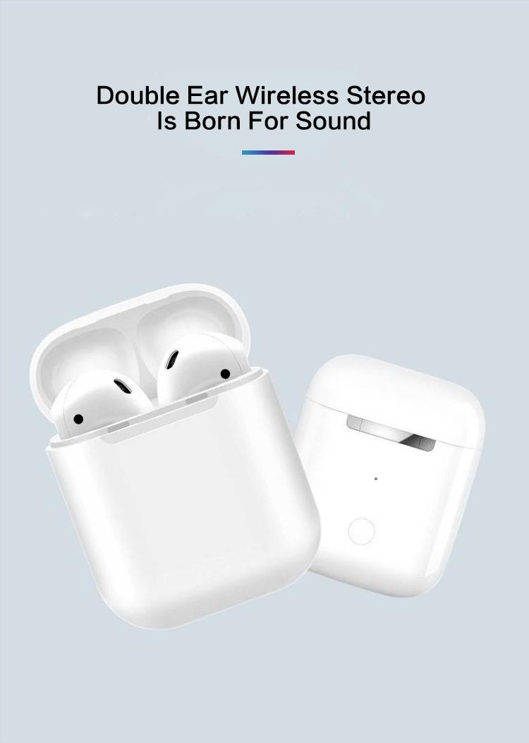 2019 Hot Selling TWS i12 wireless earphone headphone mini earbuds with charging box