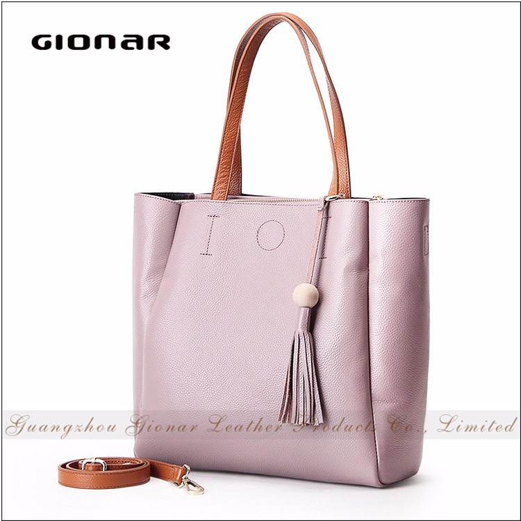 e65c842296bc Top Layer Genuine Leather Good Quality Women Tote Bag Chinese Ladies  Handbags Retail with Tassel